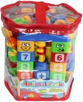 Planet Of Toys Animal Park Funny Building Blocks Set (Multicolor)