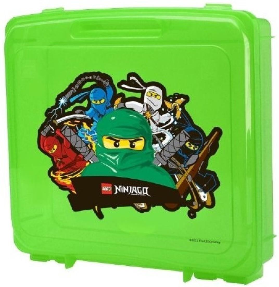 Lego ninjago portable storage case green with lloyd garmadon kai jay cole and zane graphics - Ninjago lloyd and kai ...