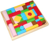 Kido Pattern Building Blocks - Set Of 50 With Tray (Multicolor)