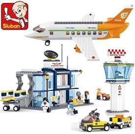 Sluban Building Plane City Airport B0367 678Pcs 8Dolls Compatible