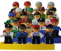 Smart Builder Toys A Set Of 20 Family And Community Figures Duplo Compatible (Multicolor)
