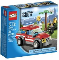 Lego City Fire Chief Car 60001 (Multicolor)