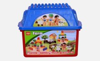 Planet Of Toys Farm Block Set For Smart Growth (Multicolor)