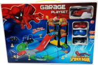 Gift World Spiderman Mater Car Park Garage Play Set (Multicolor)