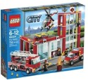 Lego City Fire Station 60004 - Multicolor