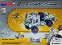 Hrinkar Aolida Metal Truck Construction Set 3D Stainless Steel Puzzle 112 Pcs (Multicolor)