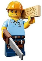 LEGO Minifigures Series 13 Carpenter Construction Toy (Multicolor)