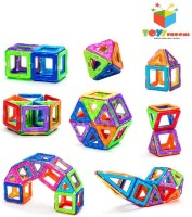 Toys Bhoomi 20 Piece Magical Magnetic Building Blocks Construction Learning Educational Toy Set For Toddlers / Kids (Multicolor)