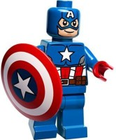 Lego Marvel Super Heroes Minifigure: Captain America With Shield (Multicolor)