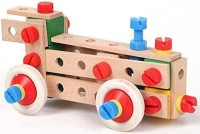 XTOYS Wooden 72-Pieces Locomotive Building & Construction Set, For Ages 5+ Years (Multicolor)