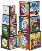 Melissa & Doug Days Of Creation Stacking And Nesting Blocks (Multicolor)