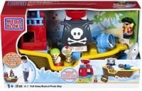 Mega Bloks Pull Along Musical Pirate Ship (Multicolor)