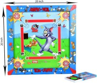 Tom & Jerry Medium Size Carrom Board With 2 In 1 Writing Board Board Game