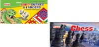 Triangle Ludo Snakes And Ladders & Chess Combo Board Game