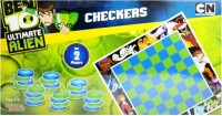 Sticker Bazaar Offically Licensed- Board Game Of Ben 10 Ultimate Checkers Board Game