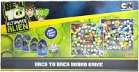 Sticker Bazaar Offically Licensed- Board Game Of Ben 10 Ultimate Back To Back Board Game