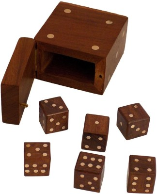 Crafts'man Board Games Crafts'man Handmade Wooden Dice Set Board Game