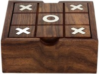 RoyaltyLane 2 In 1 Wooden Game Set - Tic Tac Toe And Solitaire Board Game - Board Game For Family - Birthday Gift Idea Board Game