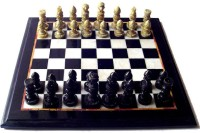StonKraft 12 X 12 Inches Collectible Black Marble Chess Game Board Set And Hand Carved Stone Pieces Board Game