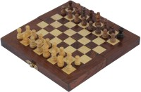 Crafts'man Square Wooden Chess (Non- Magnetic) With Storage Size: 10 X 10 Inches Board Game