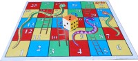 Atpata Funky 6x6 Ft Mat Snakes &Ladders & Dice 8inch Board Game