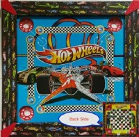 Kreative Kids 2 In 1 Carrom (17 Inch) - Hot Wheels Board Game