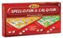 Giftoscope 2 In 1 Spell-O-Fun And Cal-Q-Fun Educational Board Game