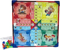 V.T. Wooden Ludo And Snakes & Ladders Board Game