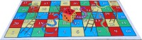 Atpata Funky 8x4 Ft Mat Snakes &Ladders & Dice 8inch Board Game
