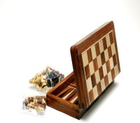 Best Chess 10 Inches Wooden Backgammon With Chess Board Game