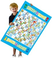 Mitashi Playmart Giant Snakes & Ladders Board Game