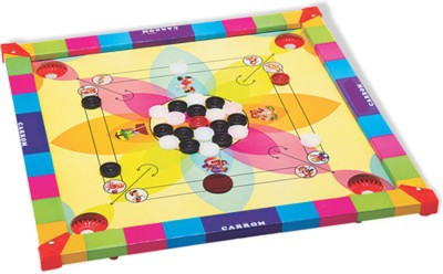 A Smile Toys & More Carrom 15inch X 15 inch Glossy Board Game available at Flipkart for Rs.429