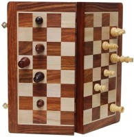 Craftatoz 12 Inches Wooden Backgammon And Magnetic Chess With Pieces Board Game