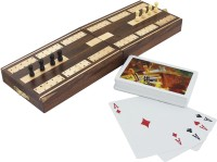RoyaltyLane Wooden Board Card Game - Cribbage Boards And Pegs Set With Playing Cards Deck Handmade Board Game