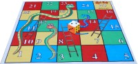 Atpata Funky 5x5 Ft Mat Snakes &Ladders & Dice 8inch Board Game