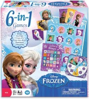 Disney The Wonder Forge Frozen 6-in-1 Collection Board Game