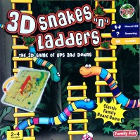 Kreative Box 3D Snakes N Ladders Board Game