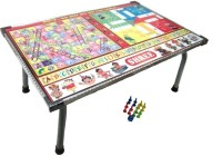 V.T. Multipurpose Wooden Foldable Table With Indoor Game 9.5 Inch Dart Board (Multicolor)
