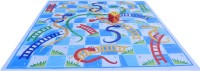Atpata Funky 10x10 Ft Mat Snakes &Ladders & Dice 8inch (Blue-White Theme) Board Game