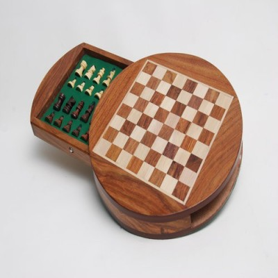 Best chess Board Games Best chess Round wooden Magnetic chess Board Game