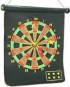 AdraxX Foldable Magnetic Dart Board 40 Cm Dart Board - Multicolor