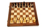 "Woodpedlar Board Games Woodpedlar 14"" Folding Chess Set With Coins Board Game"
