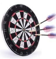 Dezire Dart Board Flocked With 6 Darts 18 Inch Dart Board (Multicolor)