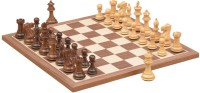 Chessbazaar Collector Series Set & Walnut Maple 2.6 Inch Chess Board (Brown, White)