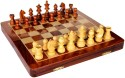 StonKraft Collectible Wooden Folding Game, Wooden Magnetic Crafted Pieces 14 Inch Chess Board - Multicolor