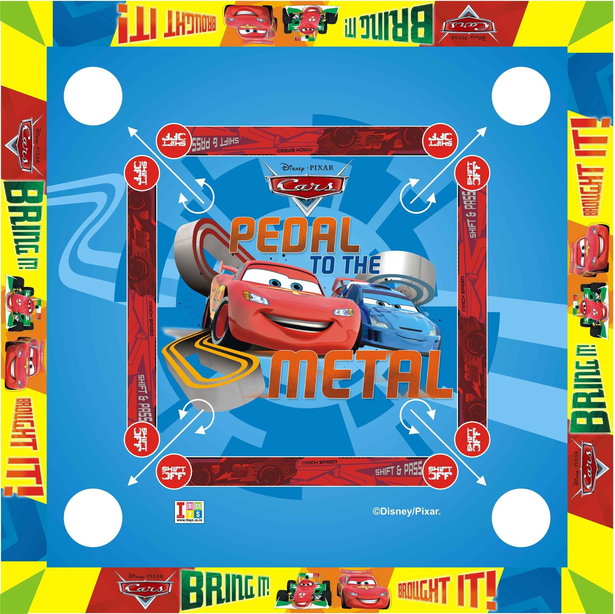 "Disney Cars Carom Board   20x20"" inches Big Size Board Game 1 inch Carrom Board available at Flipkart for Rs.689"