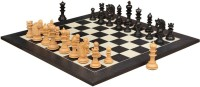 Chessbazaar Hurricane Luxury Series Set & Black Anigre Maple Matte Finish With Free Wooden Storage Box 4.7 Inch Chess Board (Black, White)