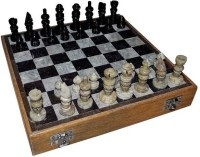 Pooja Creation Marble Plaing Shatranj And Polish On Top On The Stone 12 Inch Chess Board (White)