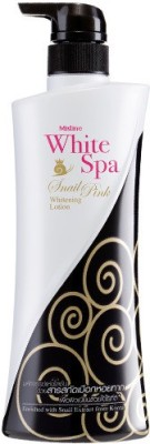 Mistine White Spa Snail Pink Lotion - Snail Extract White Radiance Complex (400 Ml)