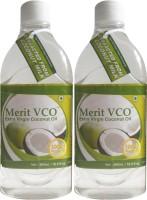 Merit VCO Extra Virgin Coconut Oil Pack Of 2 (1000 Ml)